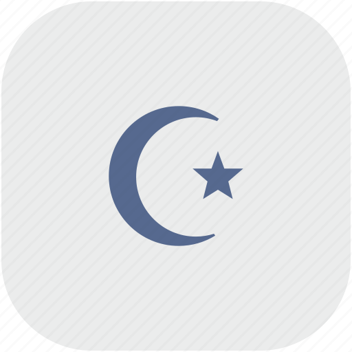 islam, religion, rounded, square icon