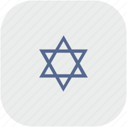 israel, religion, rounded, square icon