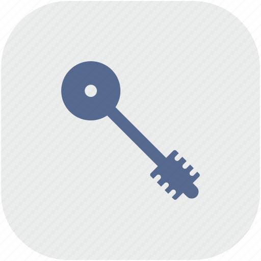 key, pass, rounded, square icon