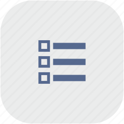 list, listing, order, rounded, square icon