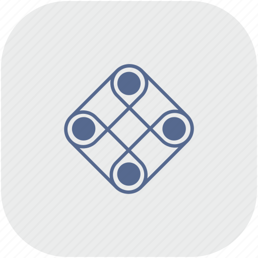 game, logic, play, rounded, square icon