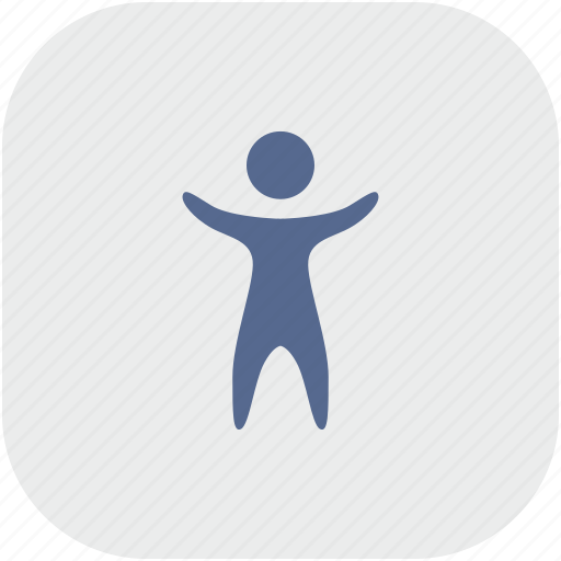 body, man, person, rounded, square icon