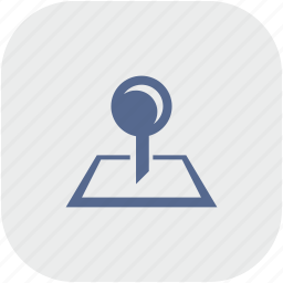 map, pointer, rounded, square icon