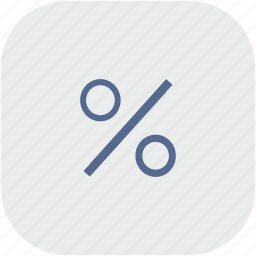 function, math, percent, rounded, square icon