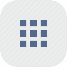 bar, menu, rounded, square, tile icon