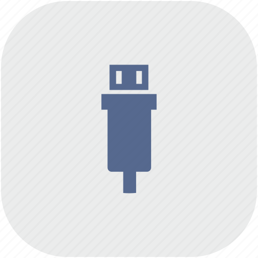 mini, rounded, square, usb icon