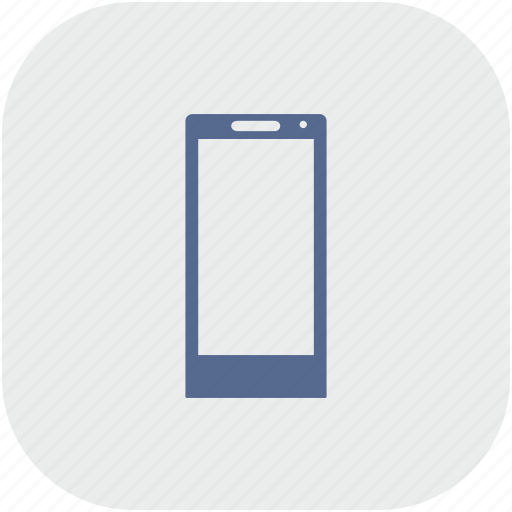 mobile, phone, rounded, square icon