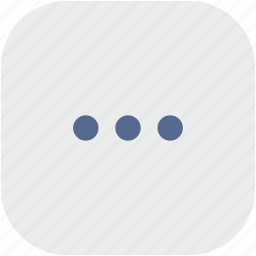 dots, menu, more, rounded, square icon