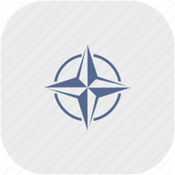 alliance, nato, rounded, square icon