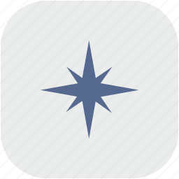 compass, navigation, rounded, square, way icon