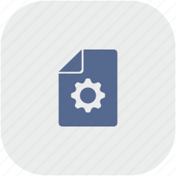 file, new, rounded, settings, square icon