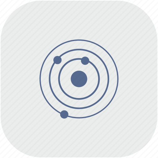 model, orbit, rounded, space, square icon