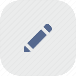 instrument, pen, pencil, rounded, square icon
