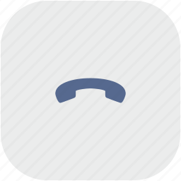 dialog, end, phone, rounded, square icon