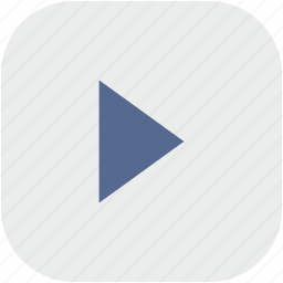 play, player, rounded, square icon