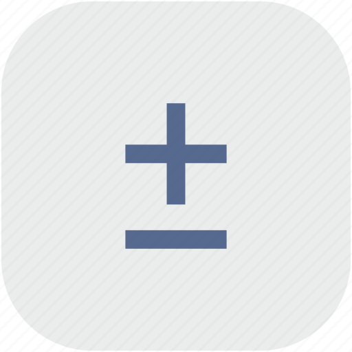 function, math, minus, plus, rounded, square icon