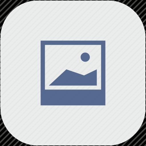 photo, polaroid, rounded, shot, square icon