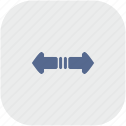 horizontal, rounded, scroll, square icon