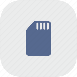 card, phone, rounded, sim, square icon