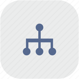 map, rounded, sitemap, square, structure icon