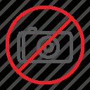camera, forbidden, no, photo, prohibited, sign, zone icon