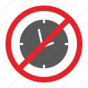 attention, clock, forbidden, no, prohibited, sign, zone