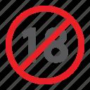 age, eighteen, forbidden, no, prohibited, sign, zone