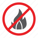 fire, flame, forbidden, no, prohibited, sign, zone