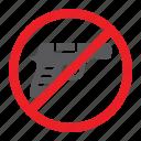attention, forbidden, gun, no, prohibited, sign, zone