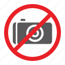 camera, forbidden, no, photo, prohibited, sign, zone icon
