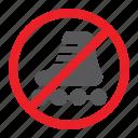 forbidden, no, prohibited, roller, sign, skates, zone