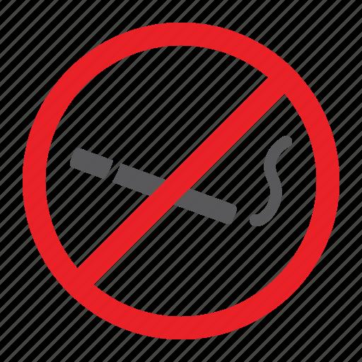 cigarette, forbidden, no, prohibited, sign, smoking, zone icon