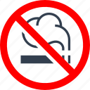 cigarette, circle, danger, don't smoke, forbidden, information, no, prohibited, prohibition, red, smoking, stop, warning icon