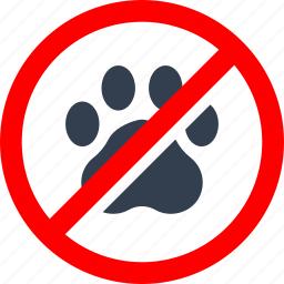 animal, circle, danger, foot trace, forbidden, friendly, information, pet, prohibited, prohibition, red, stop, trace, warning icon