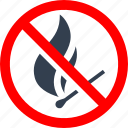 circle, danger, fire, forbidden, information, machstick, prohibited, prohibition, red, stop, warning icon