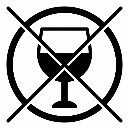Alcohol, do not drink, dont drink, no drink, prohibit, prohibited, prohibition icon - Download on Iconfinder