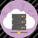 cloud, computing, data storage, flat design, internet, services, technology icon icon