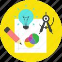 creative process, design, development, shaping icon