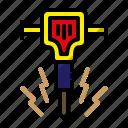 construction, jack hammer, mechanical hammer, project
