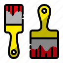 brush, construction, paint brush, painting equipment, project icon