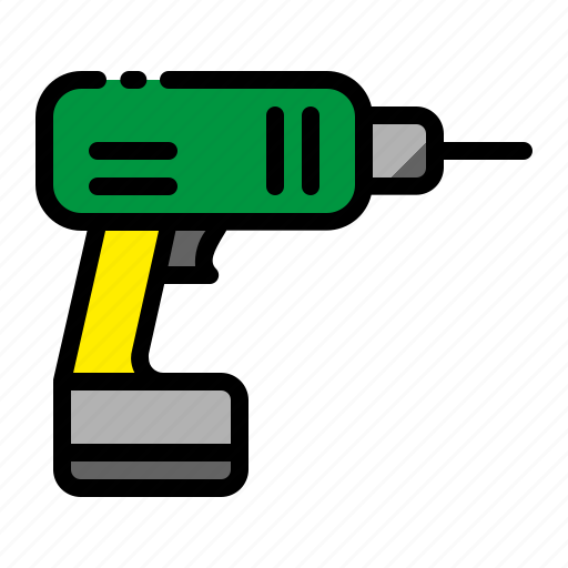 Construction, drill, electrical drill, hand drill, project icon - Download on Iconfinder