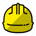 construction, construction helmet, helmet, project, safety helmet icon