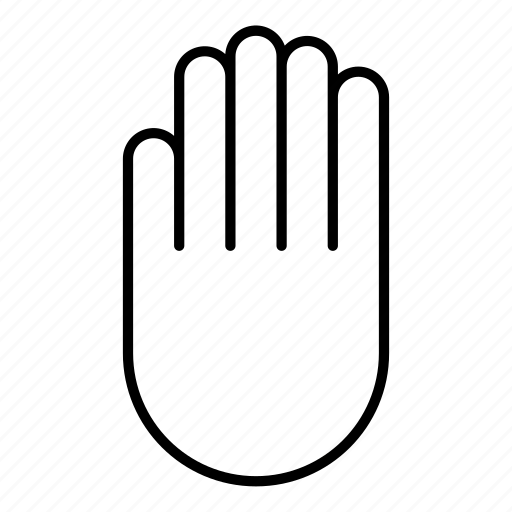 exercise, hand, manual, pause, stop icon
