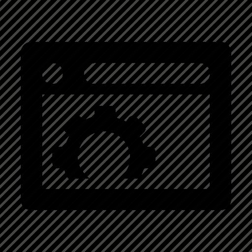 cog, web options, web preferences, web setting, webpage icon