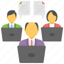 documentation, teamwork, documents, team lead, team icon