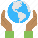 environment protection, global safety, global warming, globe in hands, world safety icon