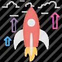 business startup, spacecraft, rocket launch, startup launch, rocket icon