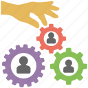 hr management, organization development, team building, team management, team organization icon