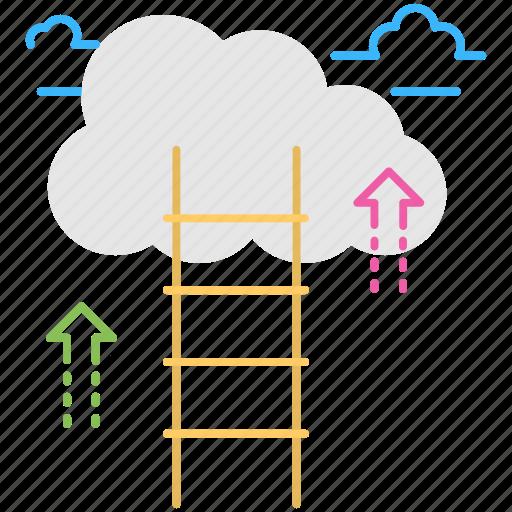 business development, career development, career growth, career ladder, career path icon