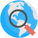 internet search, discovery concept, web search, global search, internet browsing icon